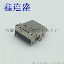 TYPE-C母座24P 加高双排 前插后贴 长体