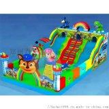山西大同儿童充气滑梯城堡造型精美