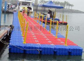 塑料浮筒码头浮动平台海上浮桥水上游泳池游船码头