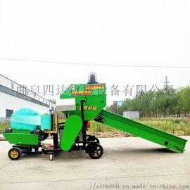 青储饲料覆膜机 圆捆青贮包膜机 全自动捆草机厂家