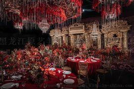 黑龍江原美婚禮堂改造、宴會廳設計、酒店宴會廳設計