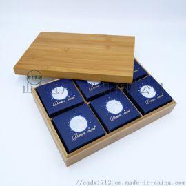 厂家直销竹木月饼盒实木点心包装盒