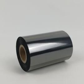 全树脂基黑色碳带PET标签  耐刮黑色碳带现货