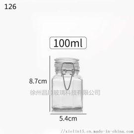 卡扣瓶密封玻璃罐乐扣瓶玻璃瓶厂家