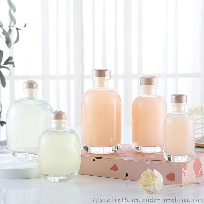蒙砂玻璃白色果酒瓶加工定製