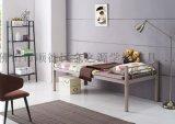 厂家直销善学简易单层铁床, 学校宿舍公寓耐用单人床