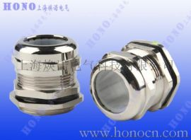 耐高温黄铜镀镍电缆防水接头 耐高温硅胶金属格兰头