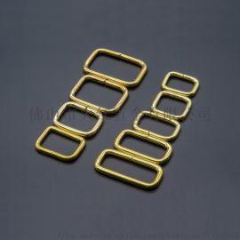 純黃銅D扣方扣日字扣鏈接扣皮具箱包五金配件