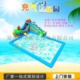 江苏南京室内外充气移动水上乐园四条充气水滑梯