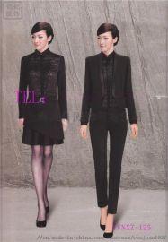 银行工作服西装 职业套装 修身外套黑色亿妃