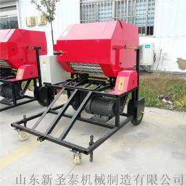 黑龙江养殖**青贮秸秆打捆机 柴油全自动打捆包膜机