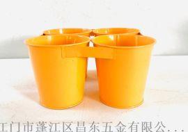 鐵藝不漏水花桶,鐵皮方形花桶 ,花桶容器