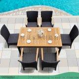 美式工业风餐厅实木铁艺桌椅--组合休闲桌椅