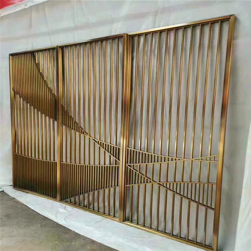 珠寶店隔斷不鏽鋼屏風 茶藝室背景牆隔斷屏風
