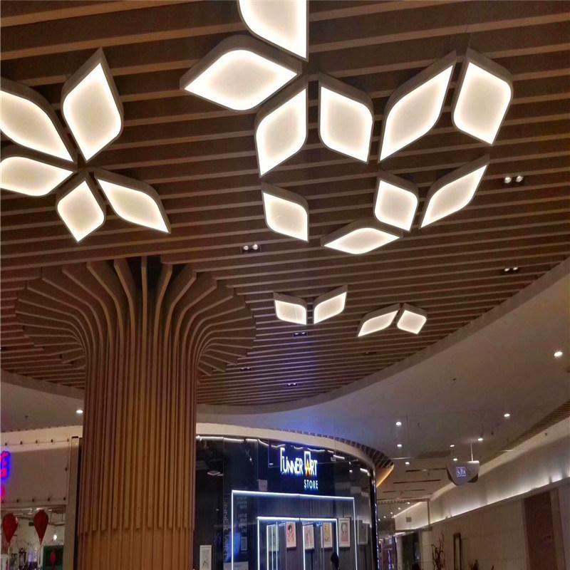天虹不規則弧形鋁方通 開口造型鋁方通構造特點