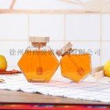 六棱瓶蜂蜜瓶玻璃瓶果醬瓶蜂巢瓶密封罐