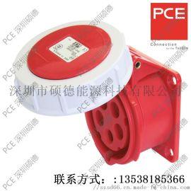 PCE工业插座 法兰式直插座 3152-6