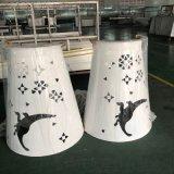 恐龙世界双曲圆形包柱铝单板 鸟类镂空包柱铝单板