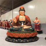 昌東樹脂彩繪觀音菩薩佛像,玻璃鋼觀音菩薩生產廠家