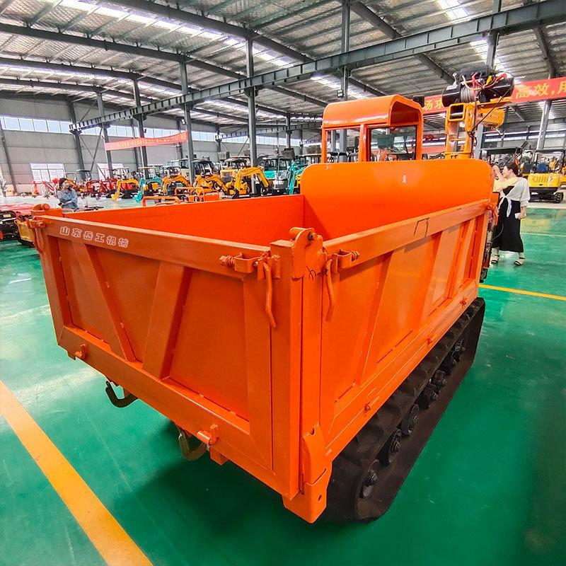 小型履带运输车 工地物料运输车 座驾式履带拖拉机