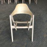 奶茶店餐椅北欧A字人形软包餐椅白蜡木白茬白胚