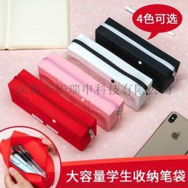 多色系卡带拉链立体音响笔袋环保大容量创意简约文具盒