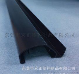 塑料型材定做 塑料型材加工 环保ABS 黑色pvc型材