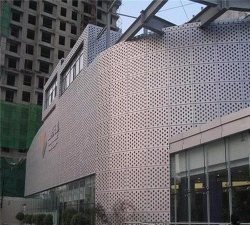外墙装饰冲孔网呈现出不同色彩