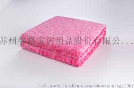 馨格家纺剪花法兰绒毯