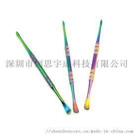 彩虹勺子 dabber 雕塑用器 烟具配件