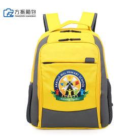 黄色书包牛津布书包学生书包定制可定制logo上海方振