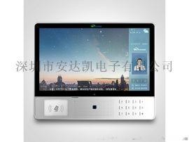 刷卡测温云可视主机 推送图文广告云可视主机设备
