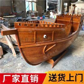 朝阳仿古木帆船餐厅造景船质量好