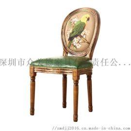 实木餐厅椅子定制,原木橡胶木椅,订做餐厅椅子厂