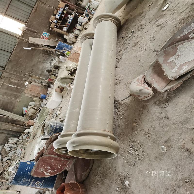 歐式羅馬柱雕塑 酒店裝飾玻璃鋼羅馬柱造型