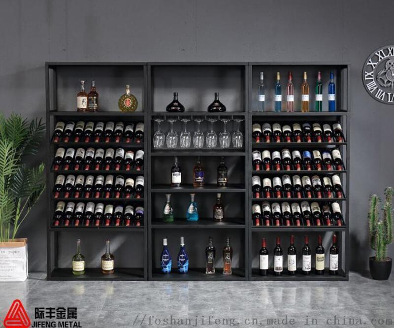 钛金玫瑰金不锈钢酒柜酒架定制