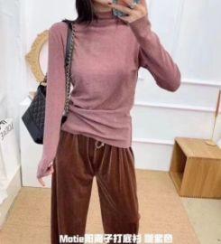 阳离子打底衫 秋冬新款半高領韩版保暖弹力針織衫厂家直销
