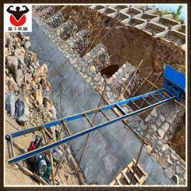 定制轨道爬坡机 高速公路送料机 上料护坡工程机械