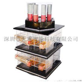 化妆品收纳盒旋转亚克力化妆品收纳盒