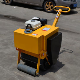 手扶式单钢轮压路机 小型震动压路机