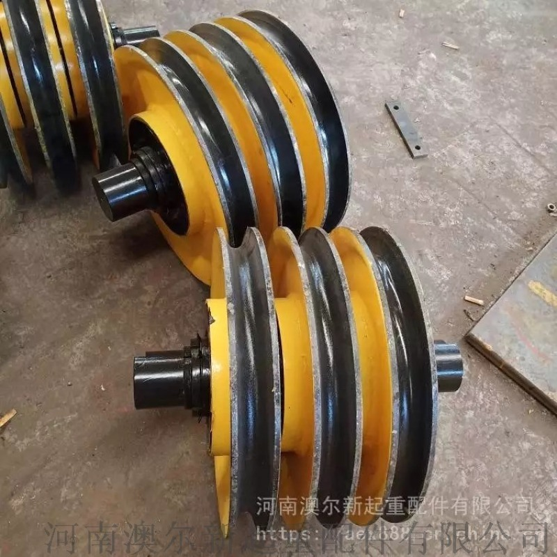 耐磨港机滑轮组 16吨吊装滑轮组 热处理加工滑轮