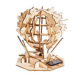 儿童DIY益智拼图玩具 3D太阳能木质科学实验制作