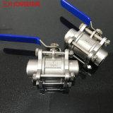 **304不鏽鋼三片式球閥 焊接高壓閥門