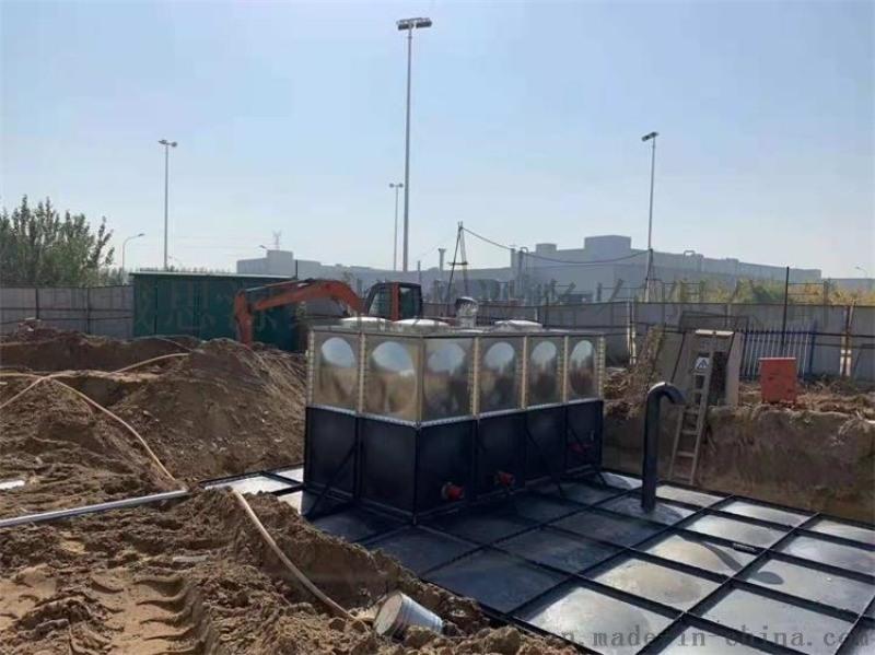 抗浮地埋式箱泵一体化消防泵站