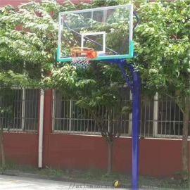 厂家自产自销地埋篮球架圆管篮球架
