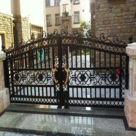 张家口万全区中式别墅大门别墅护栏加工工艺