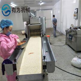 雪花鸡柳上糠机 有为400型平铺式裹雪花片机器