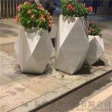 福区花园凌形花瓶铝单板,白色盘裁造型铝板 艺术铝板