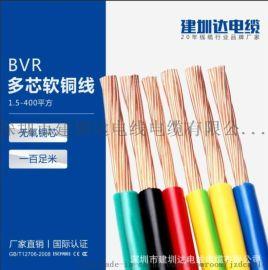 bvr电线电缆国标家装铜芯多股软电线