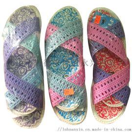 女十字拖鞋